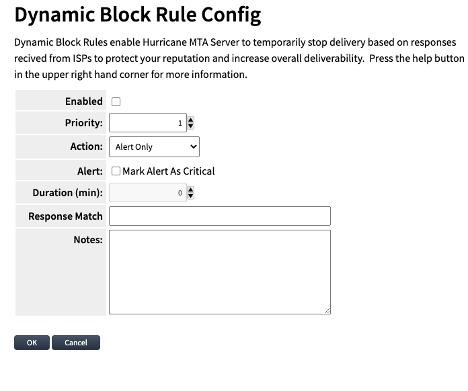 Dynamic Block Rule Creation